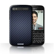 Stuff4 Phone Case/cover for Blackberry Classic/q20 /carbon Fibre Effect/pattern Blue
