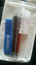 Bluecell 2 Pack of Stylus Black and red  with cable tie