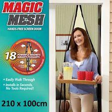 MOSQUITERA MAGNETICA 2,1 M 210cm MAGIC MESH CORTINA IMAN PUERTA MOSQUITOS MOSCA
