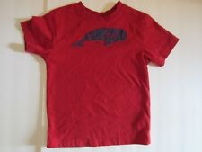 Nautica Toddler Boy 3T Tee Shirt Short Sleeve Red Oh Whale