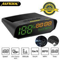 AUTOOL X100 GPS Digital Head-Up Display KMH/MPH HUD Speedometer Car Gauge