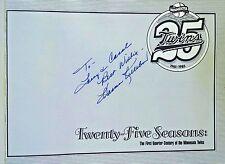 Signed by HARMON KILLEBREW 25 Seasons 1st Quarter Century Minnesota Twins Book