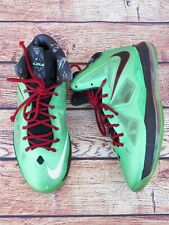 Nike Air LeBron X 10 Cutting Jade Tourmaline Red Fiberglass 541100-303-Size 14