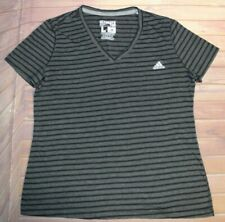 Adidas Ultimate Tee Short Sleeve SS T-Shirt Womens L Large Black Matte Silver