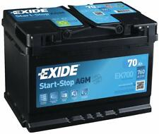 BATTERIA PER AUTO EXIDE AGM 70 AH 760 EN 12 VOLT START & STOP EK700 = VR760