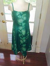 GREEN HAWAIIAN MUUMUU HULA SPAGHETTI STRAP SHORT DRESS SIZE 7-8