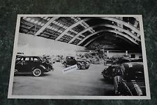 """12 By 18"""" Black & White Picture 1936 Ford Auto Expo Showroom Display"""