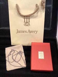"""NEW  JAMES AVERY Sterling Silver 24"""" Cable Chain w/ Pouch, Box & Gift Bag 5grams"""