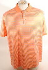 Ralph Lauren Purple Label Striped Polo Shirt Sherbert & White Italy $295 E3B