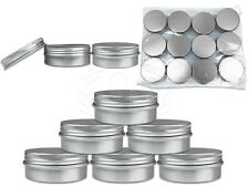 6 Pieces 30Gram/30ml Silver Aluminum Tin Sample Jar Containers with Screw Lids