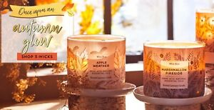 Bath and Body Works 3 Wick Candle Autumn Fall 2021 Collections