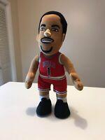 "Rare Derrick Rose Chicago Bulls Bleacher Creatures NBA Plush Figure 11"" Red"