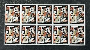 2011USA #4503 Forever Jazz - Block of 10  mint sheet postage music
