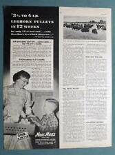 Original 1951 MoorMans Feed Ad Photo Endorsed by Price Family of Marshall Cty IN