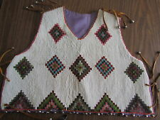 NATIVE AMERICAN HANDMADE VEST, SOLID BEAD, COLORFUL, L@@k ! ! !