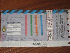 INTER JUVENTUS BIGLIETTO TICKET CALCIO 1990/91 SERIE A