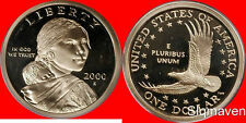 2000 S Sacagawea Dollar Deep Cameo Gem Proof No Reserve
