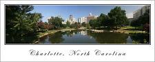 Poster City Skyline Panorama Charlotte Panoramic Fine Art Print 12x30 Photo