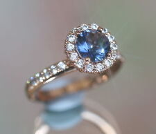 Lab-Created Sapphire Fine Rings