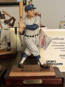 BABE RUTH HOF Sports Impressions Figurine #3563/5000 YANKEES COA BOX MINT NEW