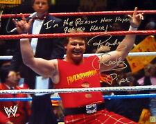Rowdy Roddy Piper Signed Hulk Hogan 16x20 Photo ASI Proof