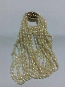 Collana In Perle Di Fiume Con Chiusura In Arg. 925