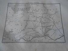 Carte Vendée Militaire rive droite de la Loire Gravure Print 1833