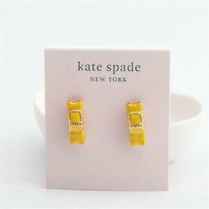 New Kate Spade New York Taxi Stud Earrings Yellow