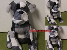 Black n White n Grey Heavy Dog Doorstop By Leonardo Brand New Door Stop
