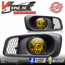 99-00 Civic & SI / Type R Yellow Fog Lights w/ Wiring Kit Set - PAIR