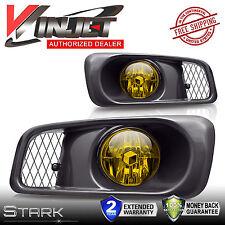 99-00 Civic & SI / Type R Yellow Fog Lights w/ Wiring Kit Set - PAIR