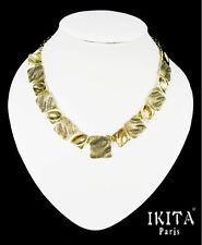 Luxus Halskette  Metall Vergoldet Ikita Paris Statement Kette Collier Antik