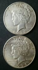 1935 and 1935 S $1 Peace Silver Dollars