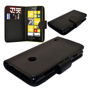 WALLET Leather Case Phone Cover with Card Slot for NOKIA LUMIA 520 UK FREE POST
