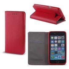 "% iPhone 6 (4,7"") funda con lengüeta funda estuche Book Case Smart imán rojo"