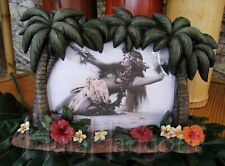 Hawaiian Palm Tree Hibiscus Picture Frame. Free Expedited Shipping!