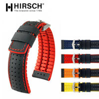 HIRSCH ROBBY PERFORMANCE WATCH STRAP BAND 20mm 22mm 24mm RED YELLOW ORANGE BLUE