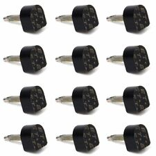 6 pair Black Heel Plate for High-heeled Shoes 10 x 11 mm 604 Style D3J3