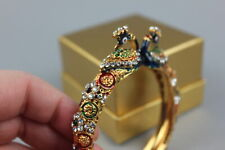 Jewel Peacock Multi Stone Gold Bracelet Sapphire Ruby Emerald Diamond