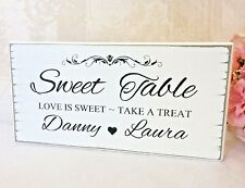 Personnalisé Sweet table Candy Bar En Bois Mariage Signe Shabby Vintage Chic