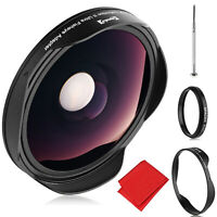 Opteka .3x Fisheye Lens for Canon Sony JVC 37mm Threaded Video Camera Camcorders