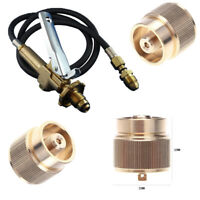 LPG Adapter Camping Propane Small Tank Input Lindal Valve Connector Output