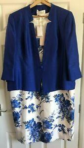 Jacques Vert dress and jacket - size 22 - royal blue