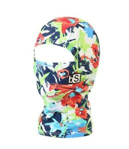 BlackStrap Kids Hood Balaclava Facemask Floral Red and Blue New