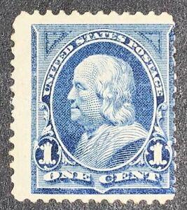 Travelstamps: 1894 US STAMPS Scott #247, 1 Cent, MINT OG NH Franklin, Blue