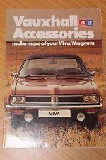 Vauxhall Accessories Viva & Magnum Brochure 1976 Plus Price List and Paint Info