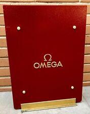 Omega Display PLACCA Finestra Negozio SPEEDMASTER SEAMASTER CONSTELLATION grandi OEM