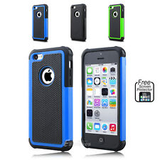 iPhone 5C Shockproof Silicone Rubber Heavy Duty Hard Tough Case Cover for Apple