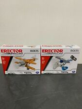Erector By Meccano Engineering & Robotics Set Of 2 Biplane & Helicopter