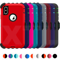 Shockproof Defender Case for iPhone XR X XS Max + Belt Clip Holster Hard Cover